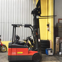 Toyota Electric Powered Forklift 7FBE 3-Wheel Type