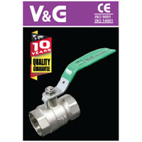 V&G Brass Handle Ball Valve
