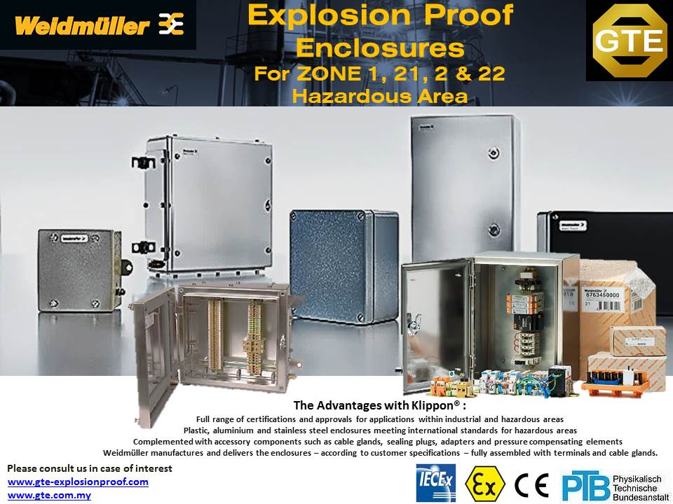 WEIDMULLER Explosion Proof Enclosures